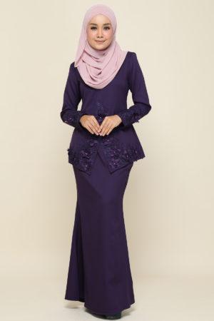 Kebaya Yaya Dark Purple