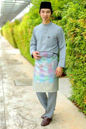 Baju Melayu Sakura Grey