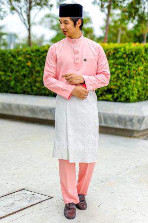 Baju Melayu Sakura Peach