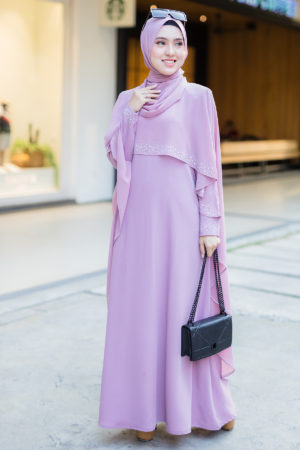 Jubah Ratu Arab Dusty Purple