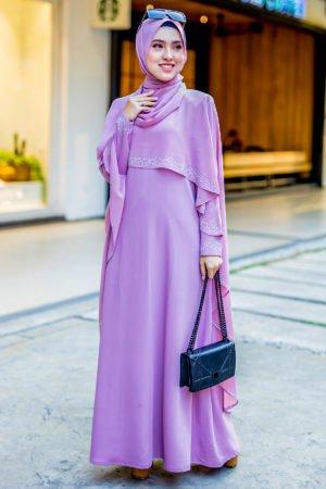 Jubah Ratu Arab Dusty Purple