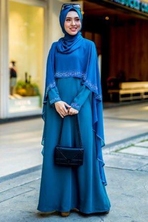 Jubah Ratu Arab Teal Blue