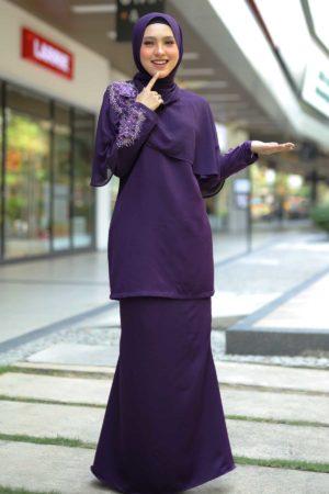 Kurung Aaira Dark Purple