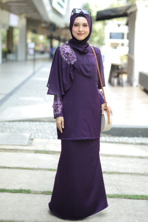Kurung Aaira Dark Purple