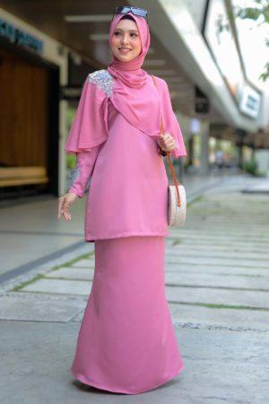 Kurung Aaira Dusty Pink