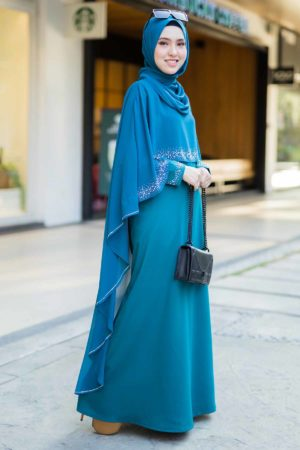 Jubah Ratu Arab Teal Blue