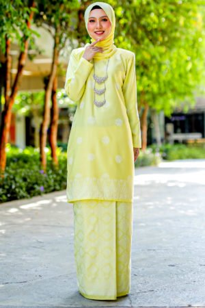 Kurung Songket Tabur Baby Yellow