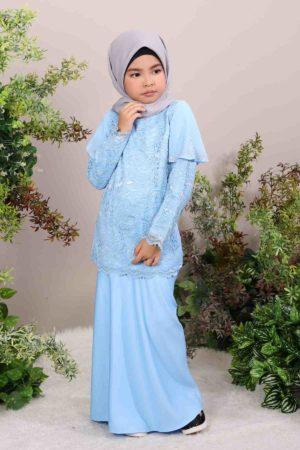 Kurung Tyara Kids Baby Blue