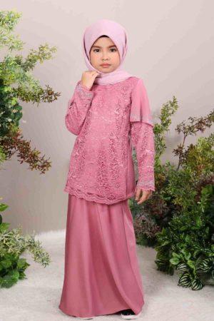 Kurung Tyara Kids Dusty Pink