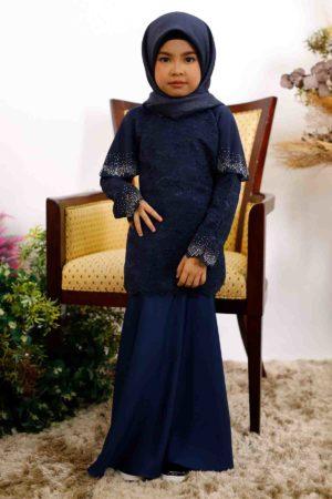 Kurung Tyara Kids Navy Blue