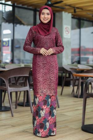Kurung Farhana Maroon