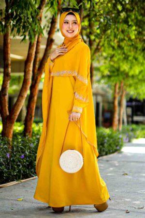 Jubah Ratu Arab Mustard