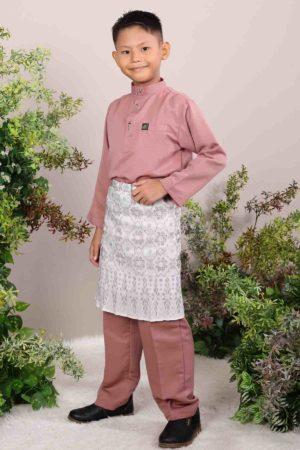 Baju Melayu Kids Rose Gold