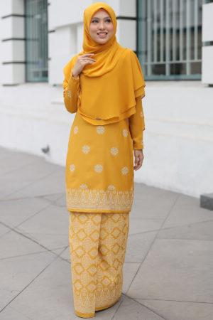 Kurung Songket Tabur Mustard