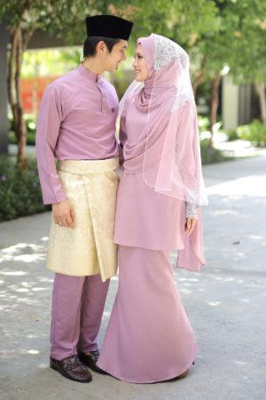 Set Couple Seri Dusty Purple (7 ITEM – Termasuk Percuma Songkok)
