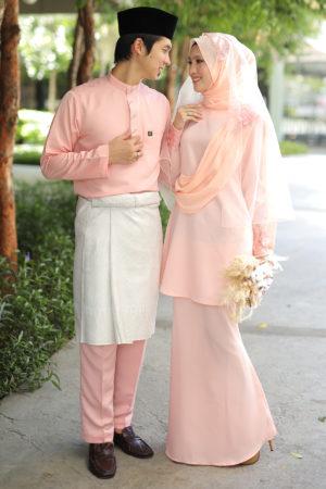 Set Couple Seri Peach (7 ITEM – Termasuk Percuma Songkok)