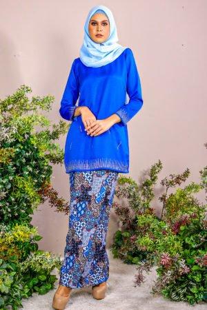 Kurung Elsa Royal Blue