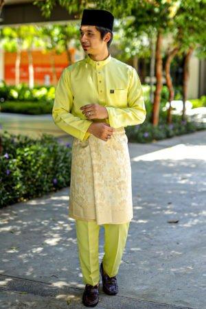 Baju Melayu Sakura Baby Yellow