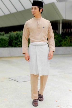 Baju Melayu Sakura Nude / Soft Brown