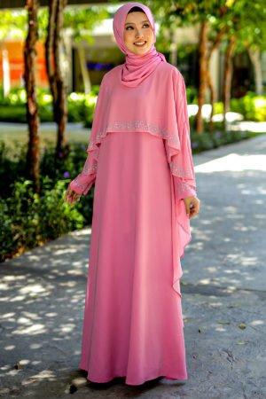 Jubah Ratu Arab Dusty Pink