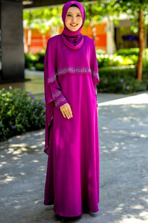 Jubah Ratu Arab Purple Magenta