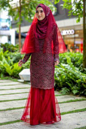 Kurung Deena Maroon