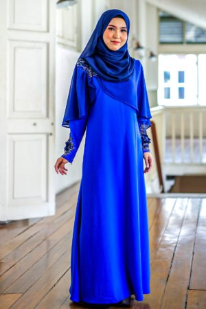 Jubah Diyana Royal Blue