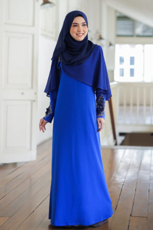 Jubah Diyana Royal Blue