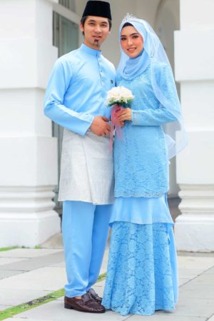 Set Couple Qayra Baby Blue (FULL SET)