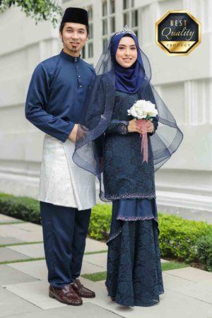 Set Couple Qayra Navy Blue