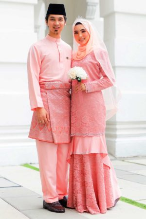 Set Couple Qayra Peach (FULL SET)