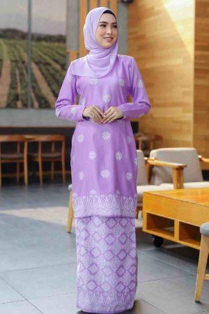 Kurung Songket Tabur Purple Lilac