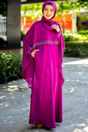 Jubah Ratu Arab Purple Magenta