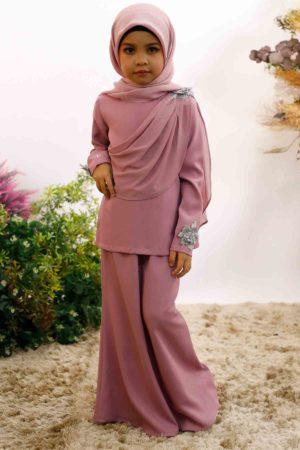 Kurung Seri Kids Dusty Purple