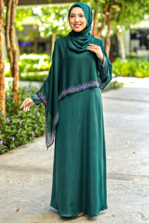 Jubah Ratu Arab v2.0 Emerald Green