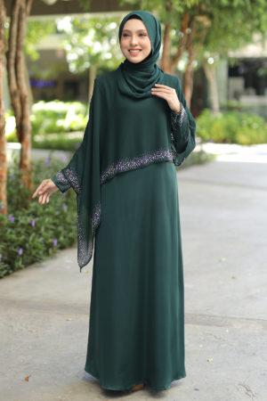 Jubah Ratu Arab v2.0 Emerald Green