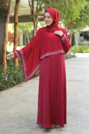 Jubah Ratu Arab v2.0 Maroon