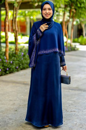 Jubah Ratu Arab v2.0 Navy Blue
