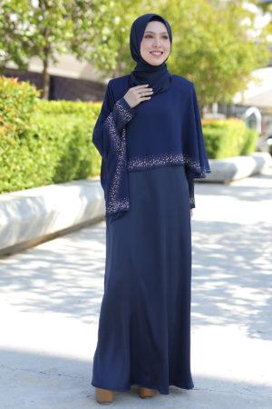 Jubah Ratu Arab v2.0 Navy Blue