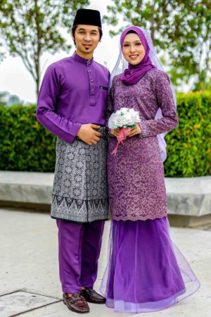 Set Couple Deena Purple Keladi (FULL SET)