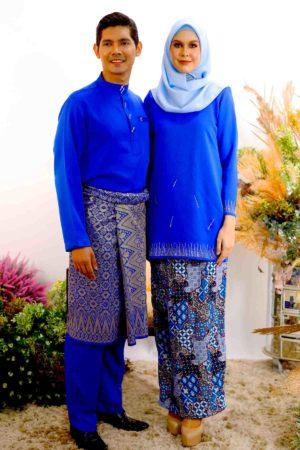 Set Couple Elsa Royal Blue