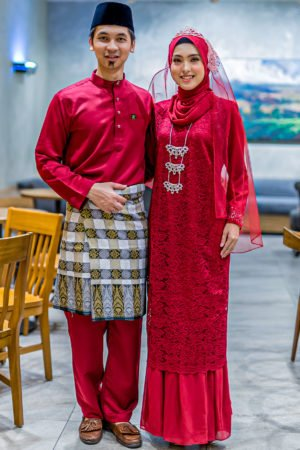 Set Couple Heliza Maroon (FULL SET)