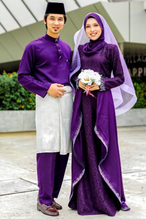 Set Couple Lareenda Dark Purple (FULL SET)