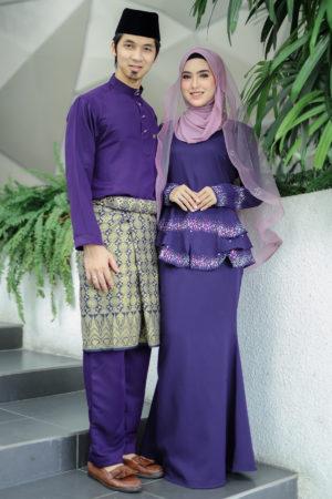 Set Couple Safiera Dark Purple