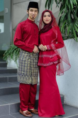 Set Couple Safiera Maroon