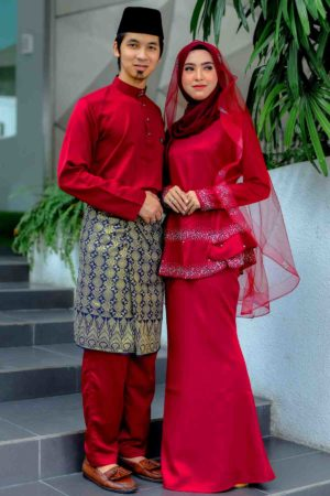 Set Couple Safiera Maroon