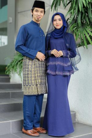 Set Couple Safiera Navy Blue