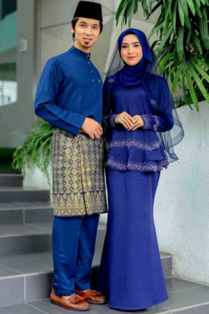 Set Couple Safiera Navy Blue