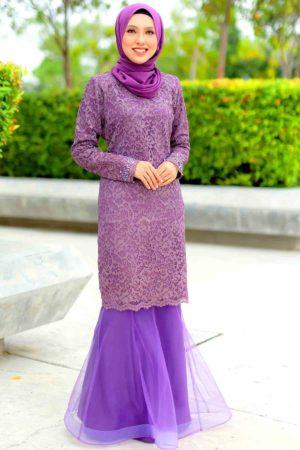 Kurung Deena Purple