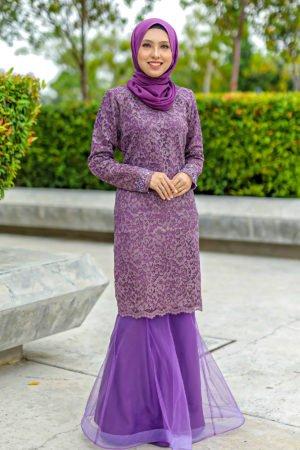 Kurung Deena Purple Keladi